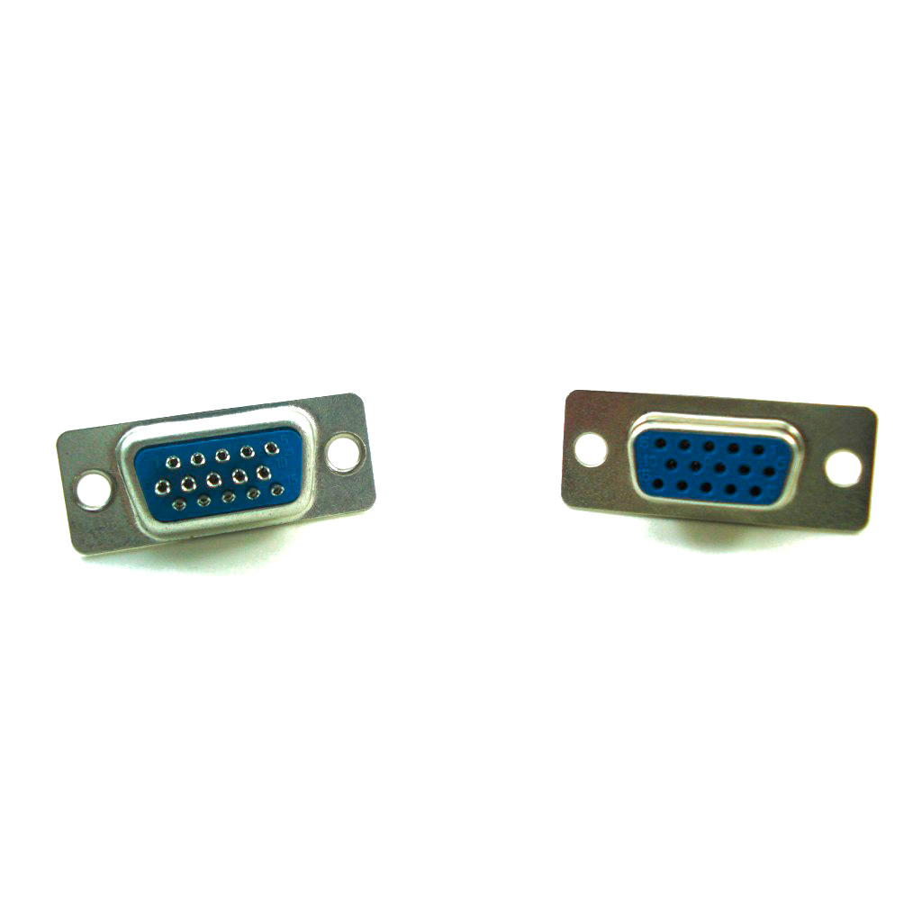 Conector DB15 Fêmea VGA Solda Fio Alta Densidade Azul
