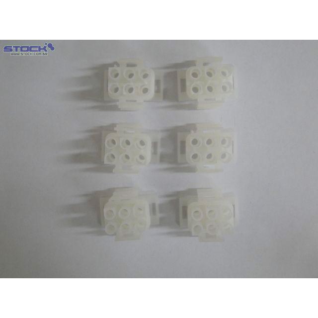 Conector de Força Macho 6.35mm 6 Vias