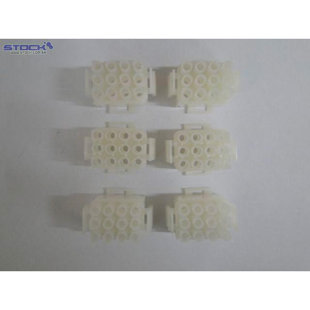 Conector de Força Macho 6.35mm 12 Vias