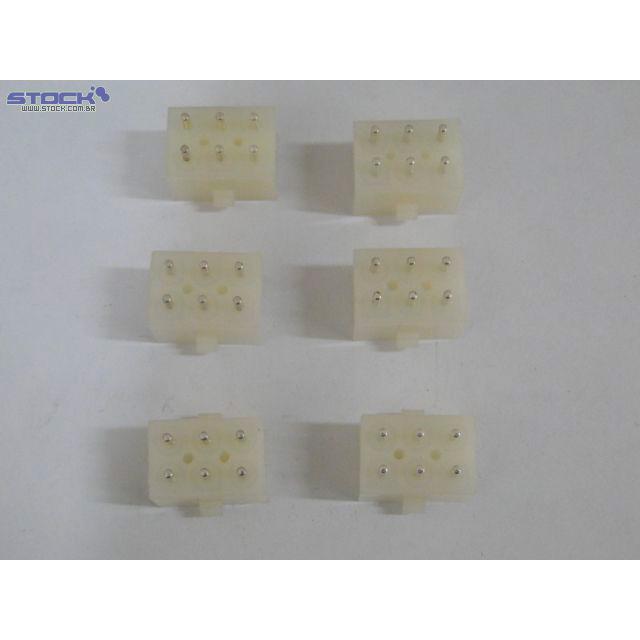 Conector de Força 6.35mm 6 Vias Placa