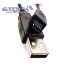 Cabo USB A Macho x B Macho 8 Pinos Quad 1.80m Preto