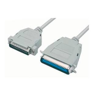 Cabo-Impressora-Paraleo-18-Contatos--DB25-Macho-x-Centronix-36-Macho-500m-Cinza