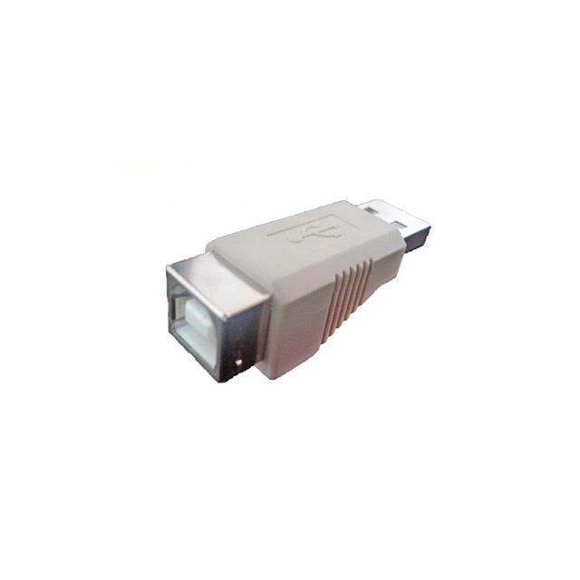 Adaptador-USB-A-Macho-x-B-Fêmea-Cinza