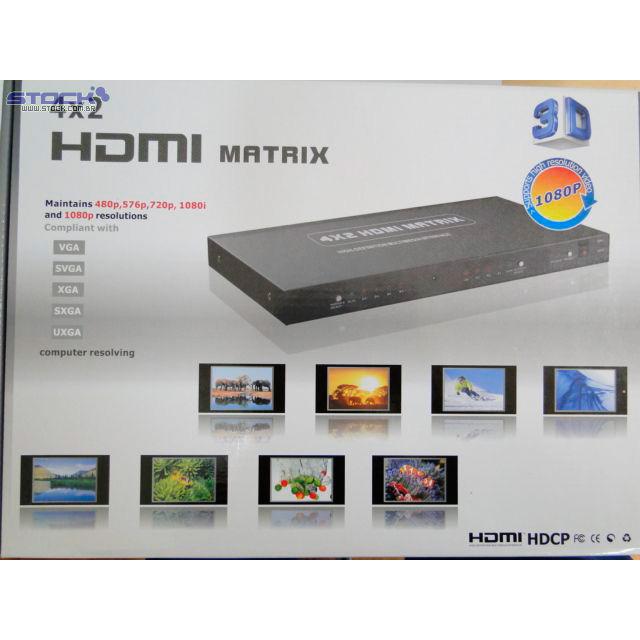 LU 642 HDMI 4 * 2 Splitter ( 3D )