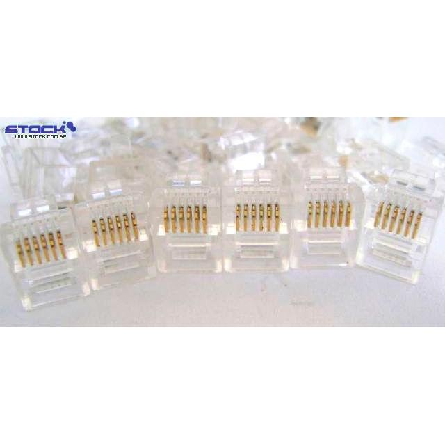 Modular Plug 6 Vias x 6 Contatos 6U Incolor