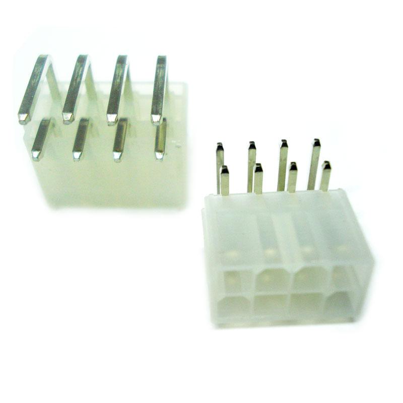 Conector Mini Fit 90 Graus 8 Vias PCI sem  Peg