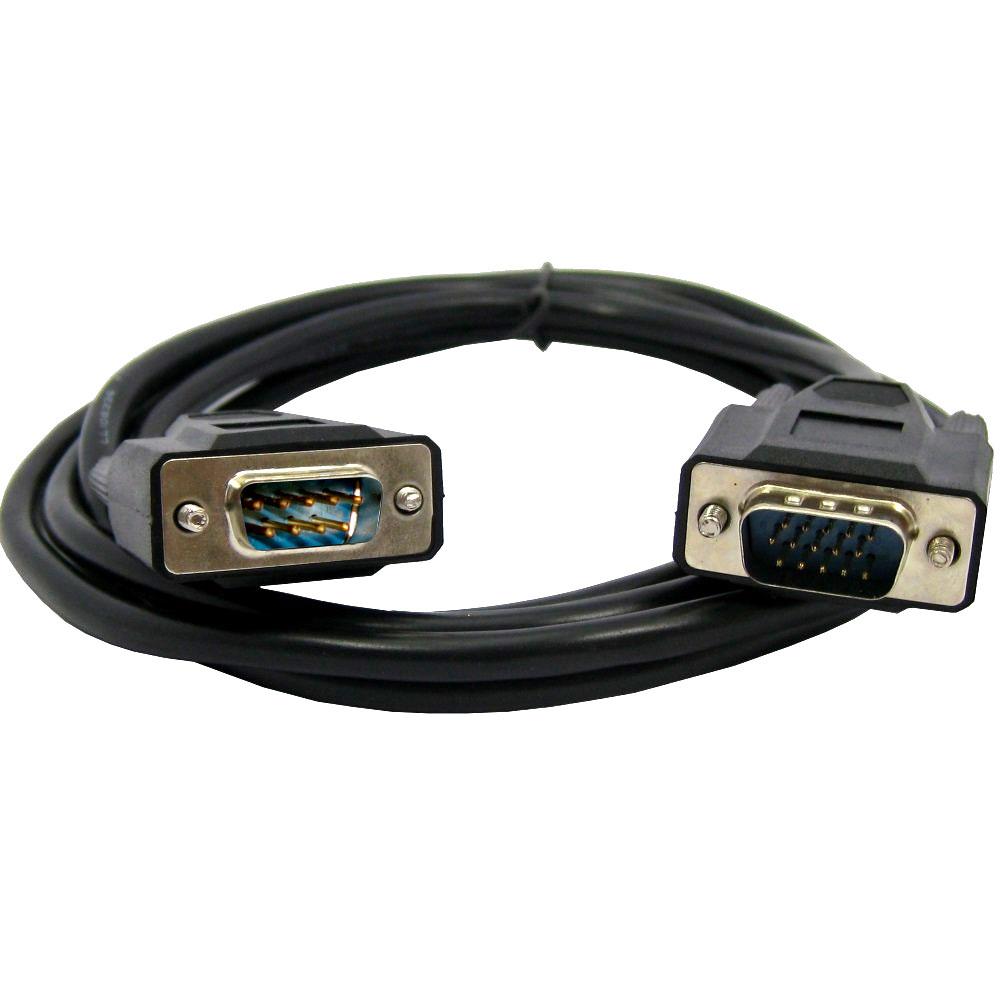 Cabo Monitor HDB15 Macho x HDB09 Macho 1.80m Preto
