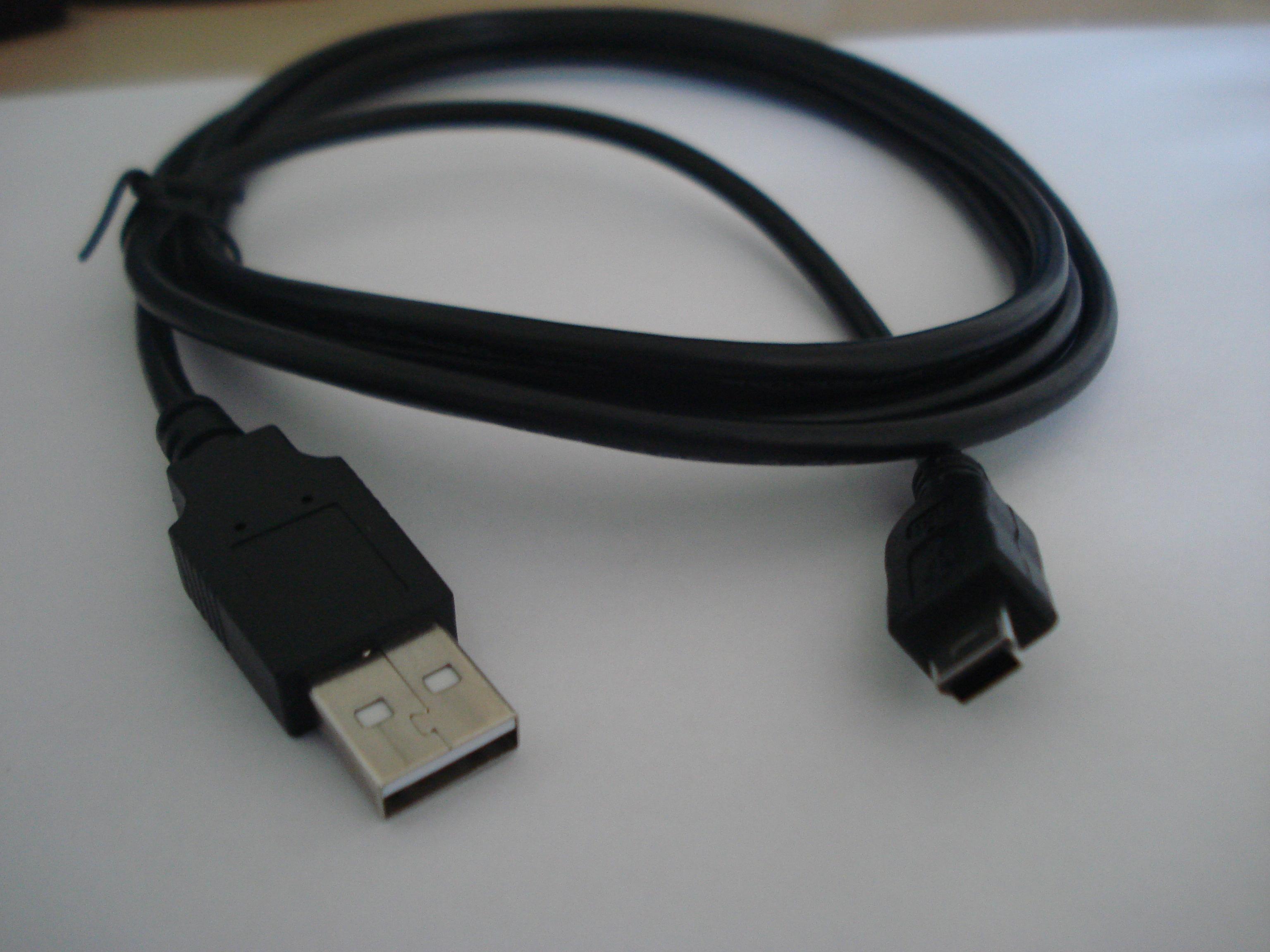 Cabo USB Câmera A Macho x Mini-M 5 Pinos 1.50m Preto